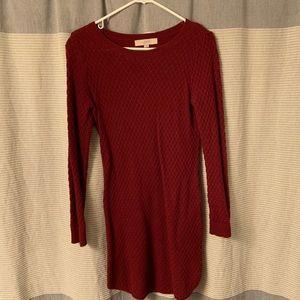 LOFT crimson sweater dress